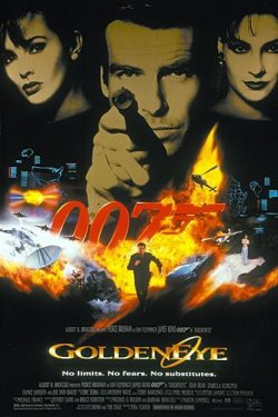 Original 1995 Poster Art  for  Goldeneye