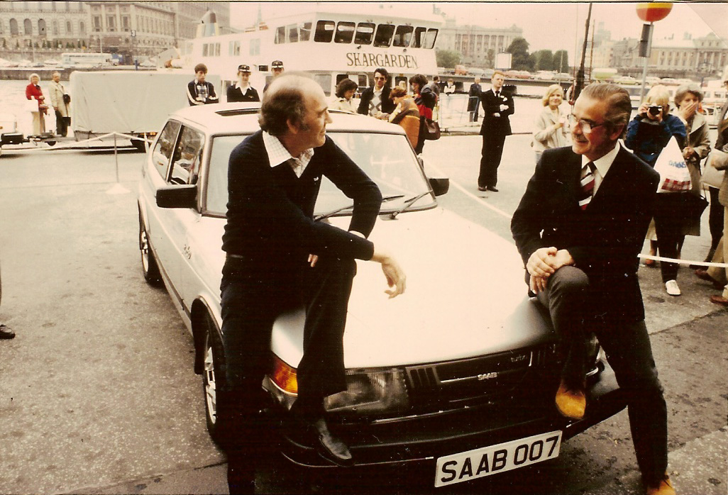 John Gardner and his SAAB 007  GRAND HOTEL Stockholm 1981