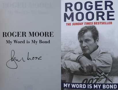 "Roger Moores   ""My word is my Bond""  JAMES BOND 007 MUSEET"