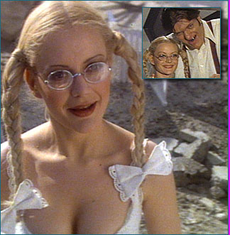 Blanche Ravalec playing DollyStarred In Moonraker (1979)  Dolly played by Blanche Ravalec is the only ally of Moonraker. After attempting to kill James Bond and Dr Holly Goodhead, Jaws finds himself hurtling towards the main cable-car station    .After completely destroying the station, Jaws manages to emerge with the help of Dolly. The pair instantly falls in love when they look at each other. They become inseparable for the rest of the film, with Dolly becoming a member of Hugo Drax�s staff who is transported to his space station. Whilst held captive aboard Drax�s space station, Bond manages to convince Jaws to let him go, telling him Dolly could possibly be killed by Drax if she wasn�t a perfect physical specimen as he demanded. After the exciting fight aboard the station between Drax�s men and the US Marines, Dolly and Jaws are left behind enjoying champagne whilst their module orbits the Earth.