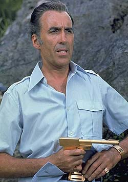 Christopher Lee playing Francisco Scaramanga  Born in London, England on 27th May 1922  Starred In The Man With The Golden Gun (1974)