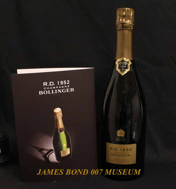 Bollinger Champagne RD 1952  in the James Bond 007  Museum Sweden, Nybro. One of the most exclusive Bollniger Champagne from the house keller in Ay outsid Reims in France.