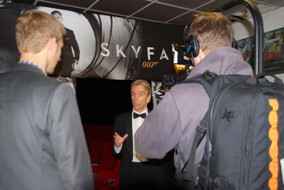 Thomas Alkärr NRK, James Bond and fotograf Brynjar Widerøe