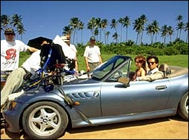 BMW z3 Roadster 1.9 Litre on set during the filming of Goldeneye