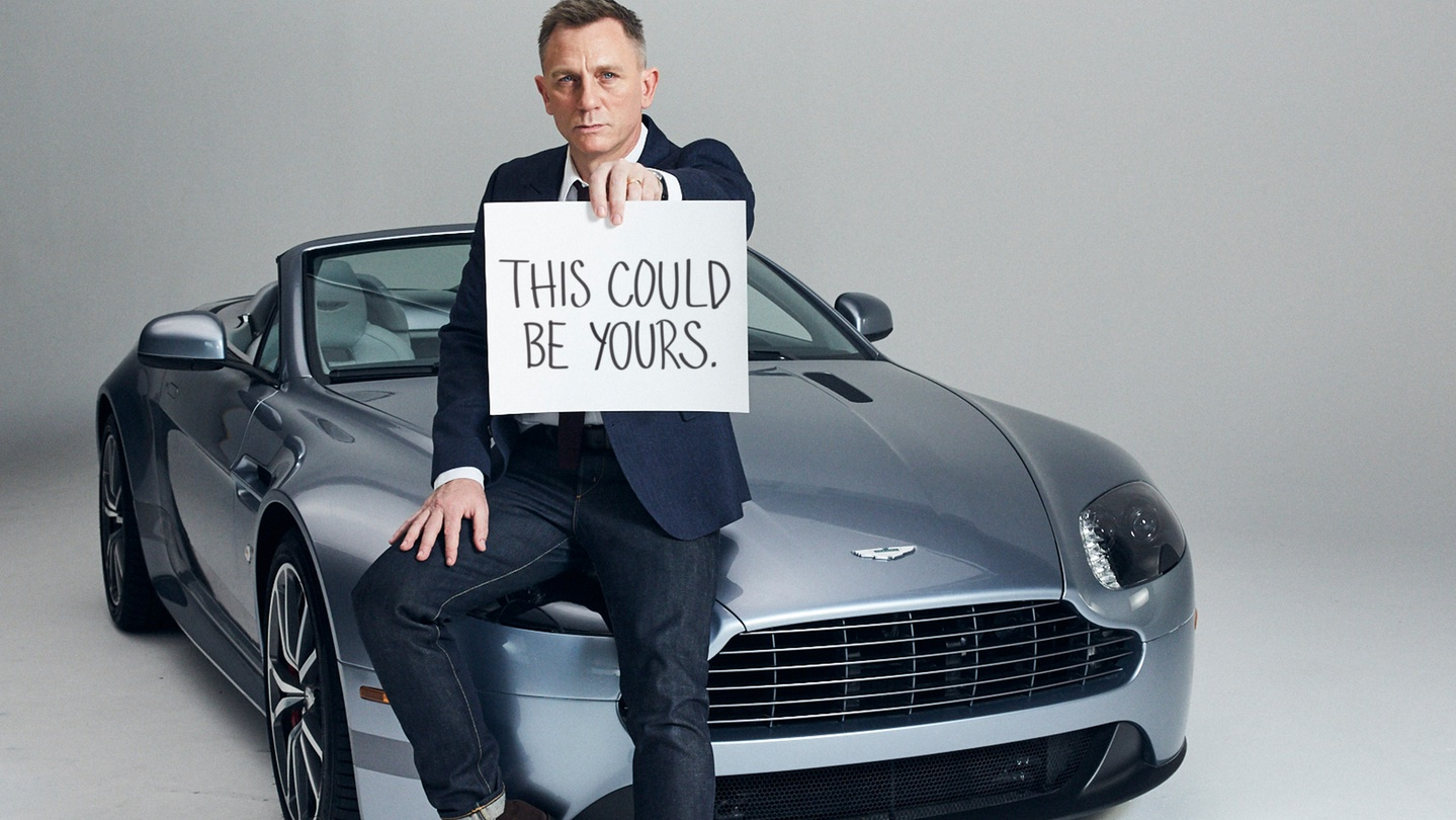 Daniel Craig And Puppies Present Your New Aston Martin By Omaze