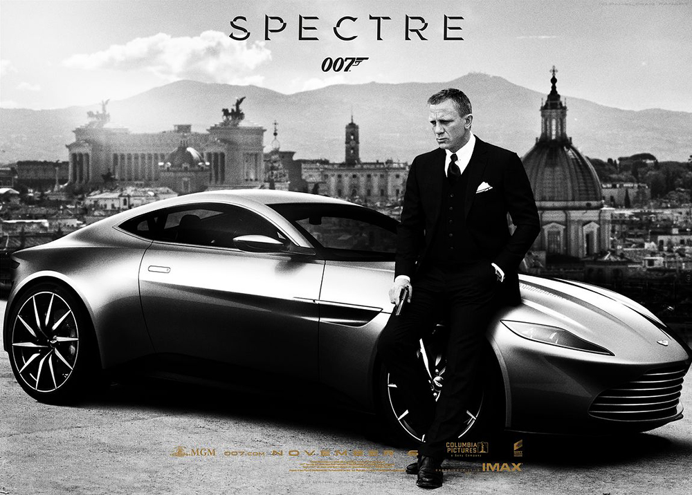 James Bond Gunnar Schäfer with the Aston Martin DB10 Spectre same as Daniel Craig was drivning in Bond 24 SPECTRE