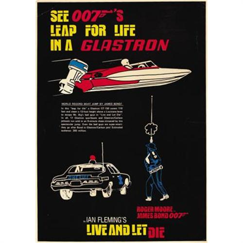 Glastron Poster Live and lt die