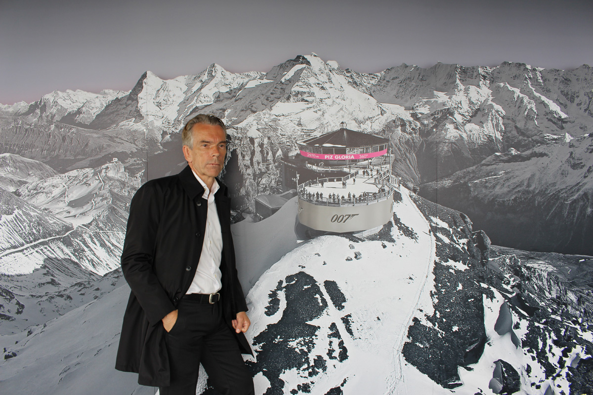 James Bond Gunnar Schäfer founder of The James Bond 007 Museum in Nybro Sweden vist Piz Gloria Schilthorn 20/6-2016