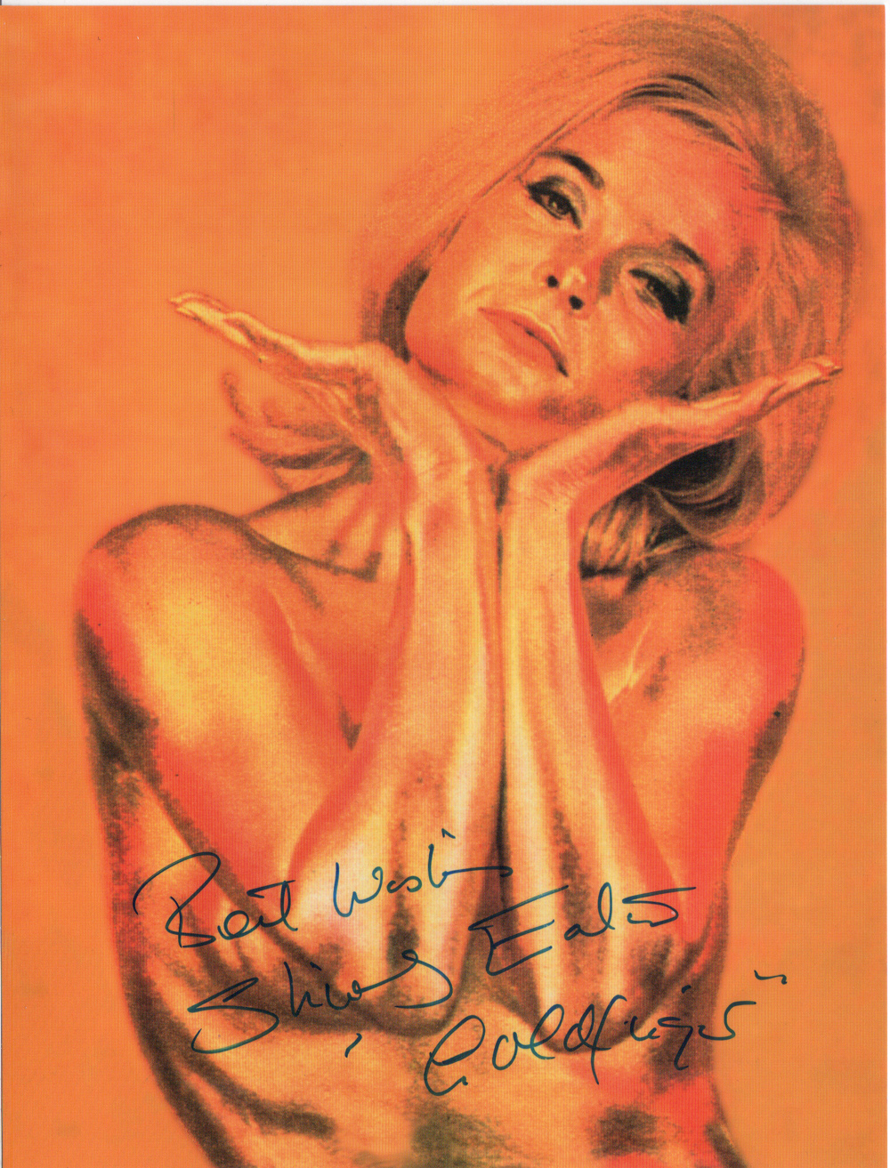 Best Wishes Shirley Eaton (played Jill Masterson in Goldfinger 1964)  to James Bond 007 Museum in Nybro Sweden and Gunnar James Bond Schäfer many thanks...