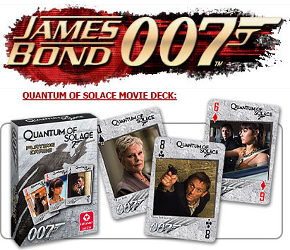 James Bond Quantum of Solace deck card game
