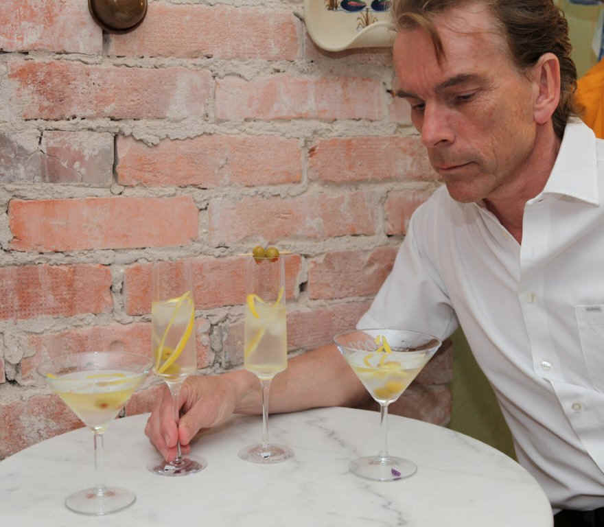 "To the left Mr James Bond  Gunnar Schäfer taking Ian Flemings James Bond's world famous drink ""the Vesper"", better known as the vodka martini..."